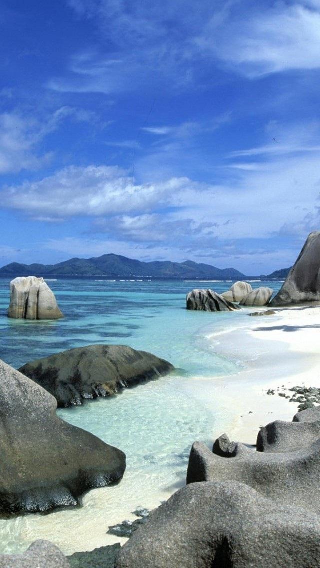 风景高清壁纸10277020 大海沙滩 风景壁纸 苹果手机 x
