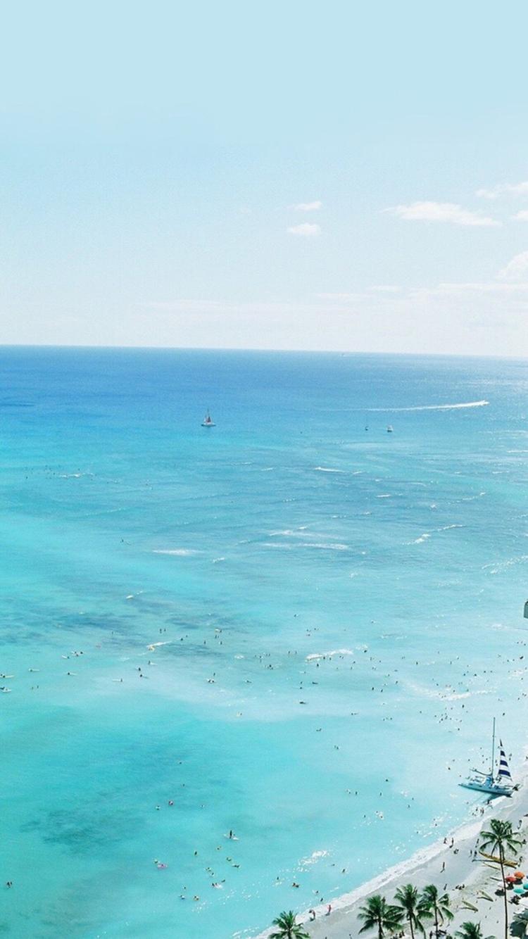 海浪 沙滩 清澈大海 苹果手机高清壁纸 750x1334