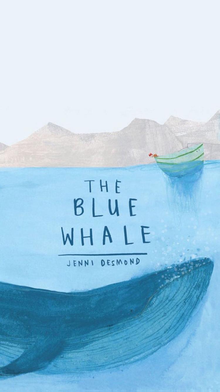 海洋之歌 鲸鱼 蓝色 大海 船 苹果手机高清壁纸 750x