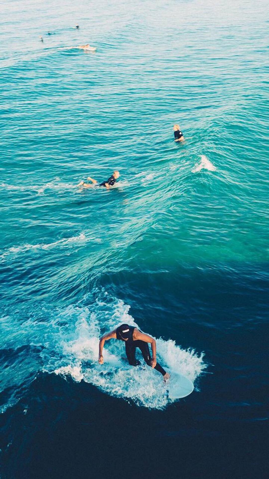 海浪 冲浪 大海 运动 苹果手机高清壁纸 1080x1920