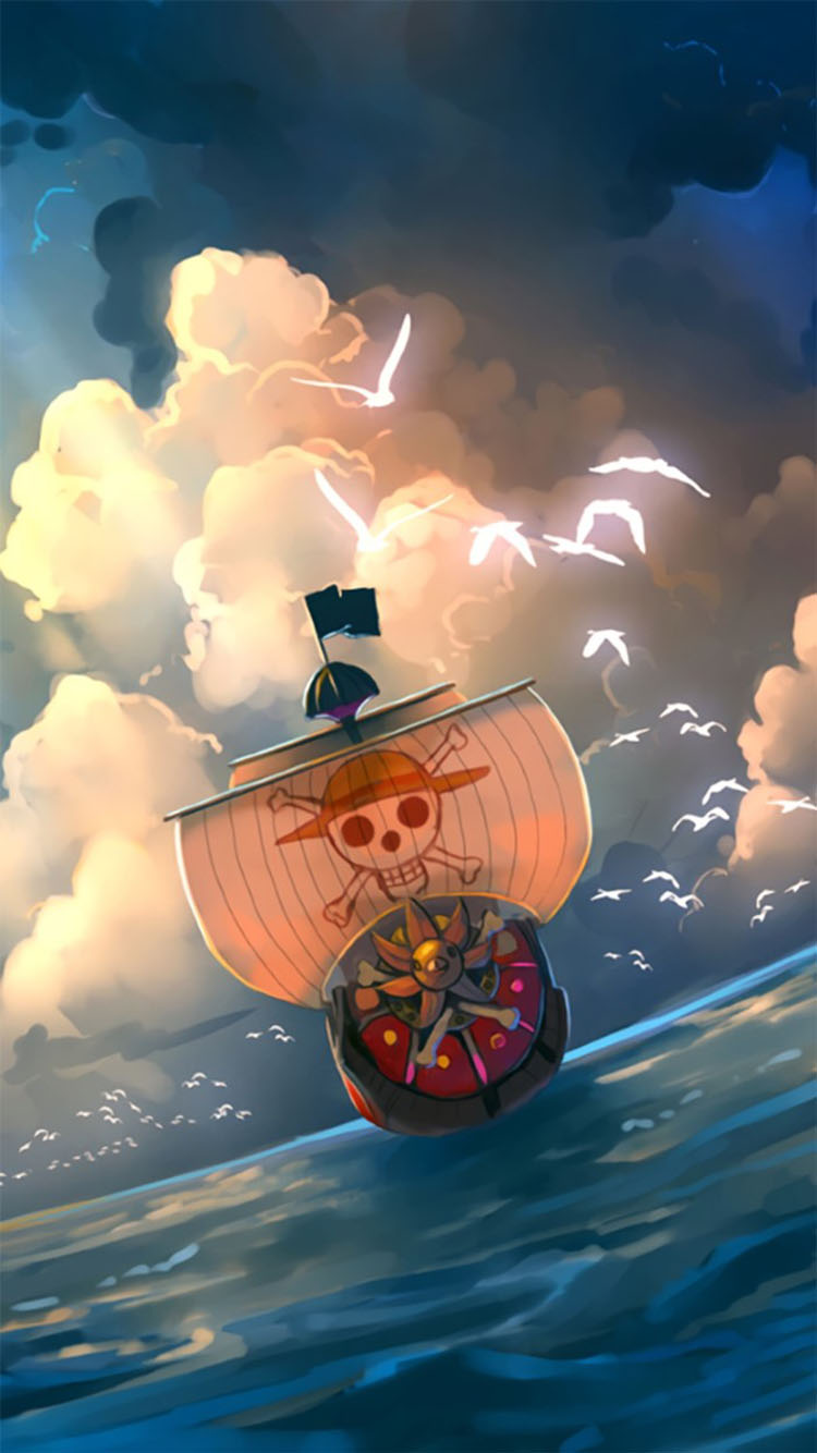 海贼王 动漫 海贼船 苹果手机高清壁纸 750x1334