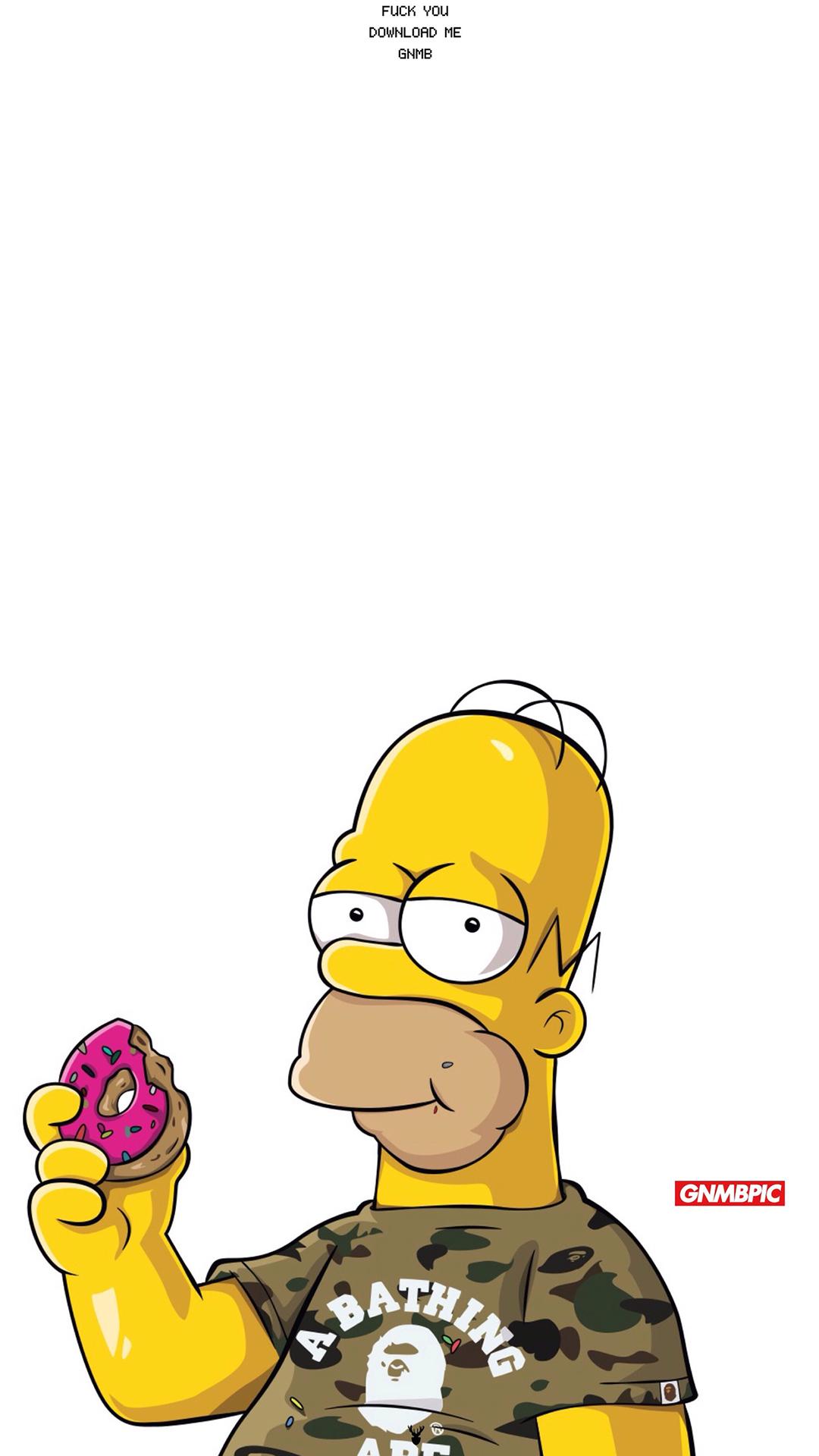 辛普森 甜甜圈 潮牌 苹果手机高清壁纸 1080x1920