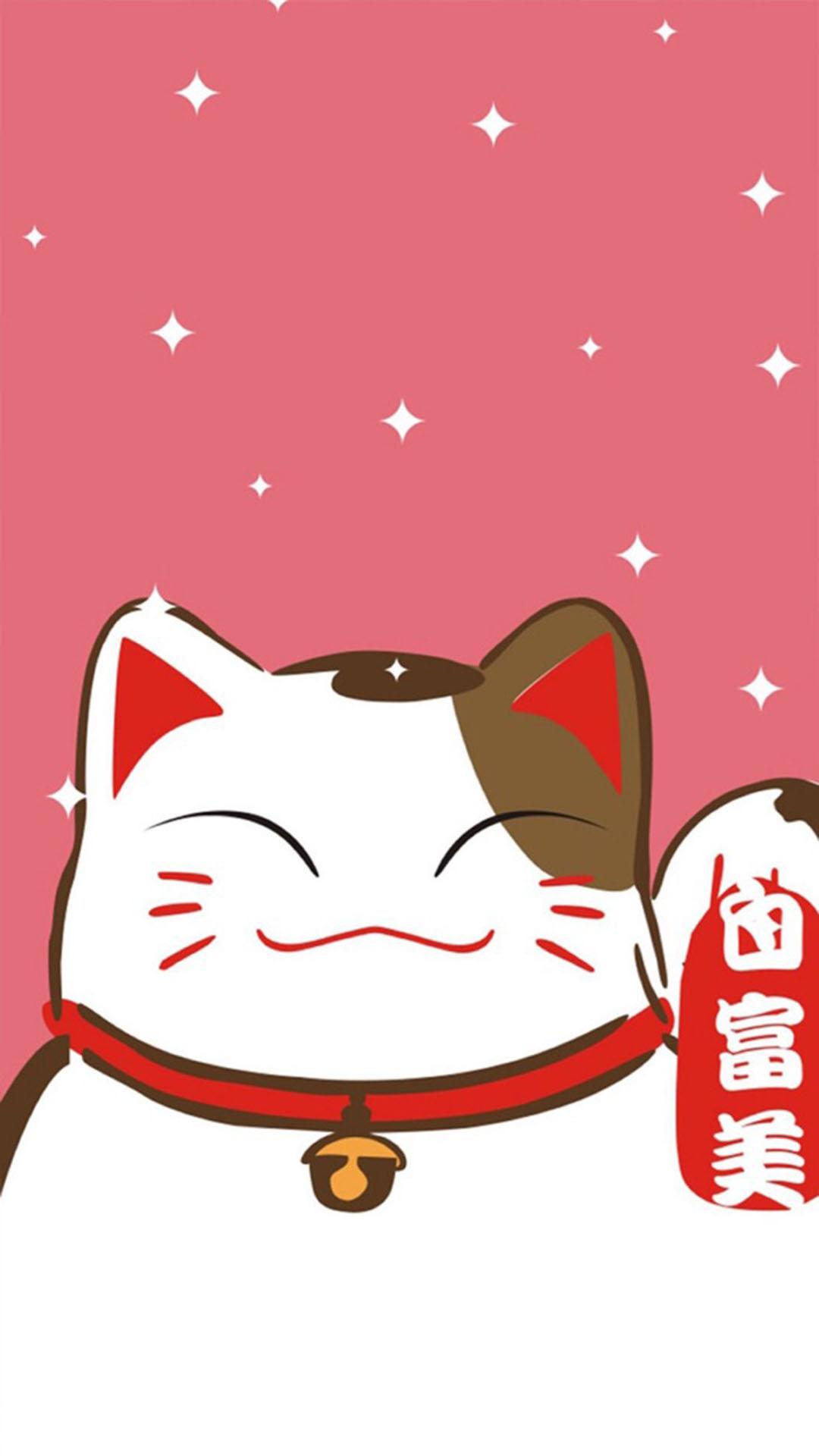 白富美招财猫 苹果手机高清壁纸 1080x1920 - 足球
