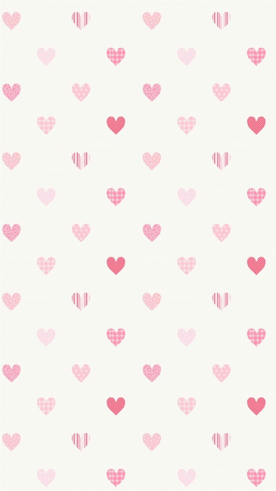爱心 聊天背景 图案 心形 平铺 苹果手机高清壁纸 x