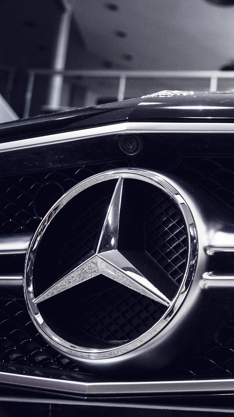 奔驰 汽车 品牌 logo 苹果手机高清壁纸 750x1334