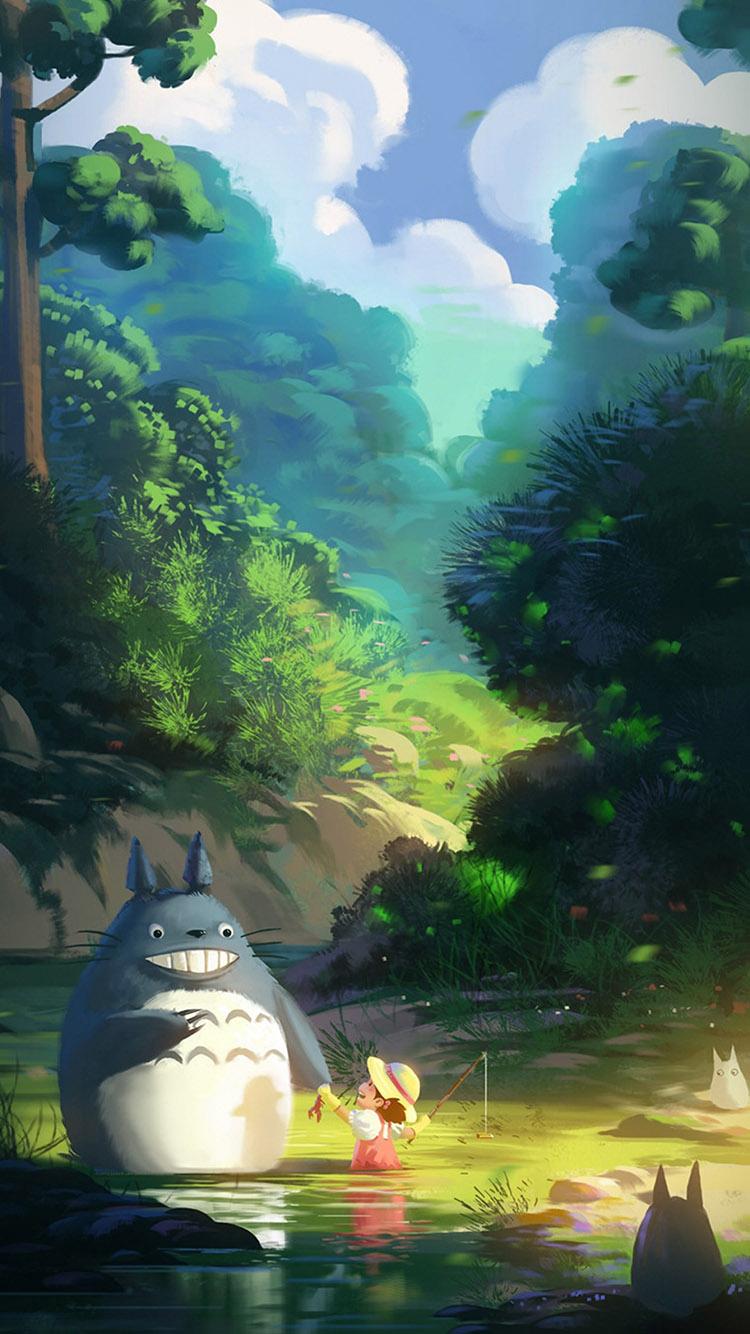 龙猫 森林 动画 动漫 小女孩 宫崎骏 苹果手机高清 x