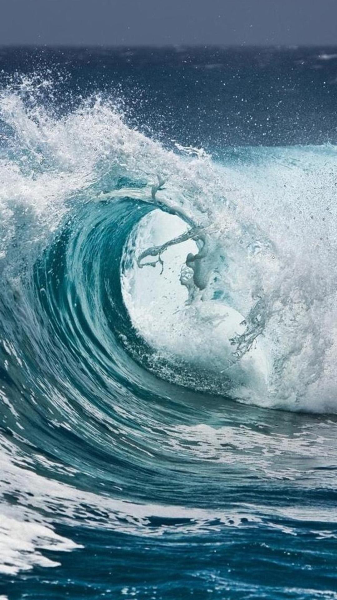 大海 海浪 海水 冲浪 苹果手机高清壁纸 1080x1920