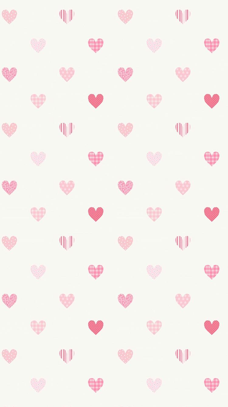 爱心 白色 平铺 爱情 苹果手机高清壁纸 750x1334