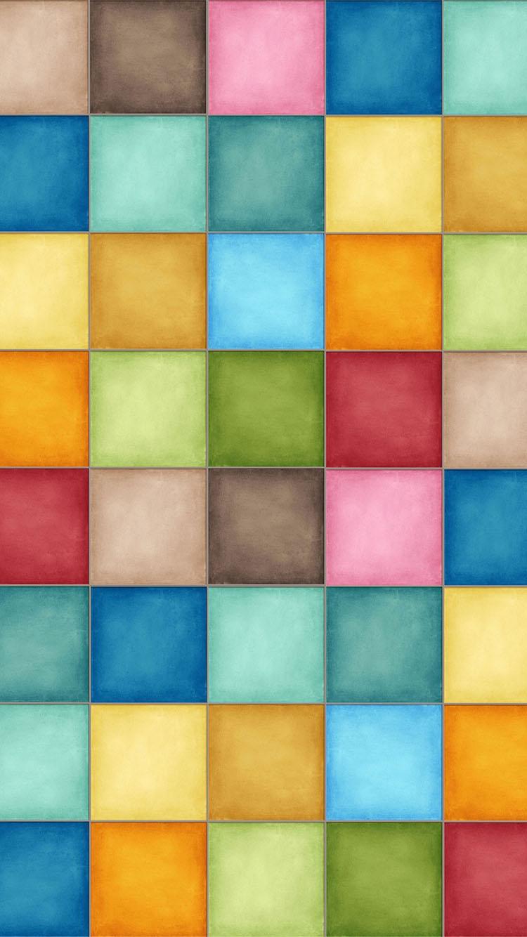 色彩 方格 五彩 苹果手机高清壁纸 750x1334 - 足球