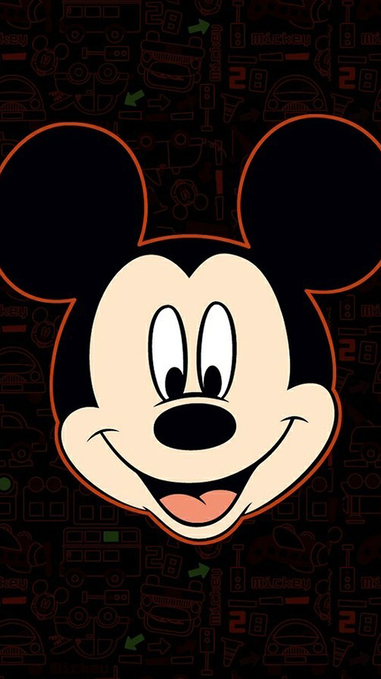 米老鼠可爱大头贴 锁屏 苹果手机高清壁纸 750x1334
