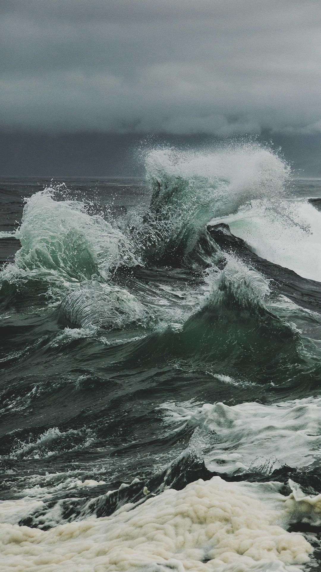大海 海浪 风景 苹果手机高清壁纸 1080x1920