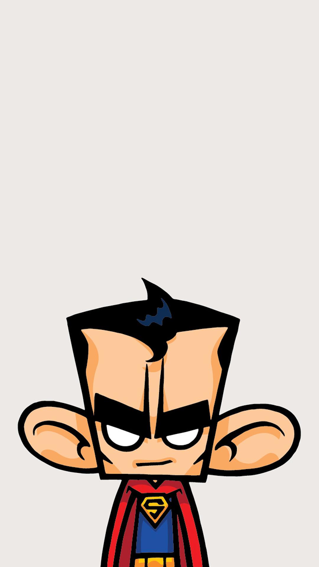 卡通 超人 创意 大耳朵 苹果手机高清壁纸 1080x1920