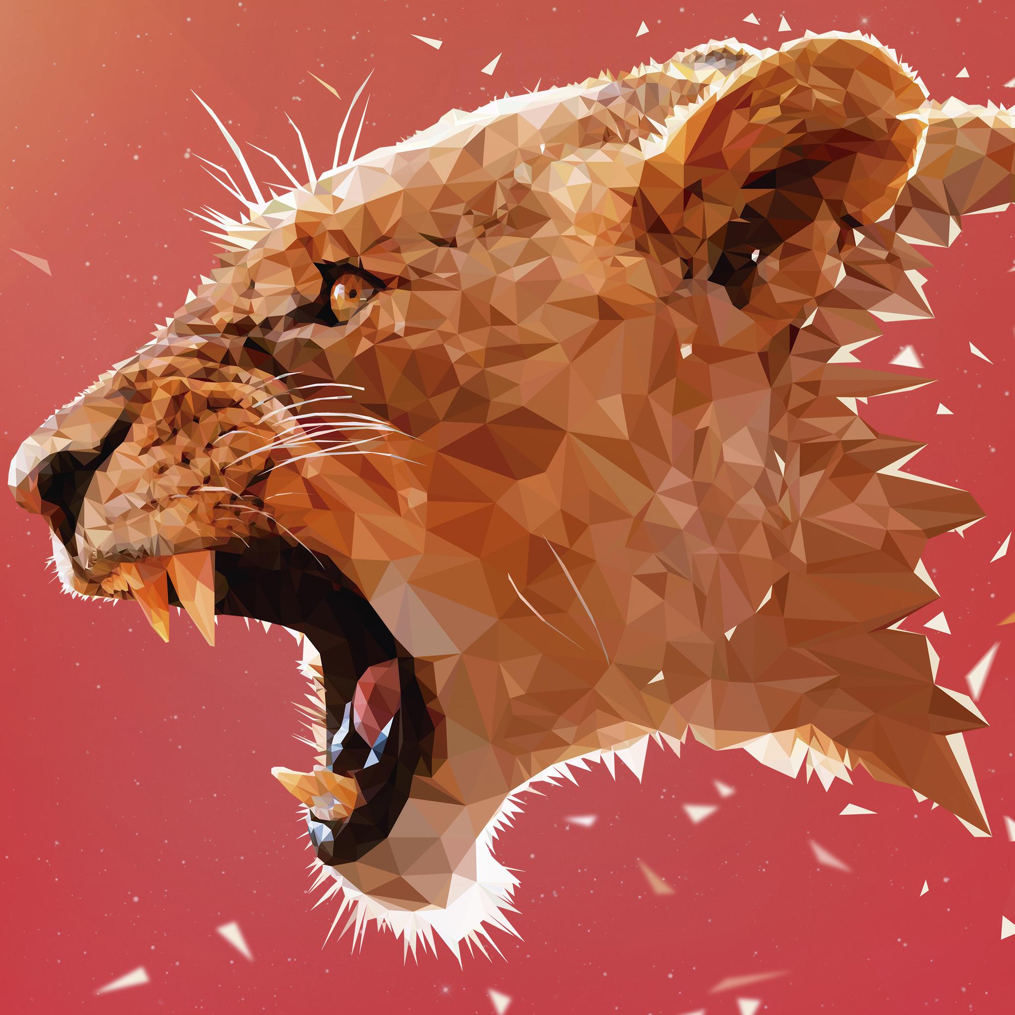 电脑上wap网:豹 动物 几何 设计 凶猛 猛兽 尖牙 苹果手机高清壁纸