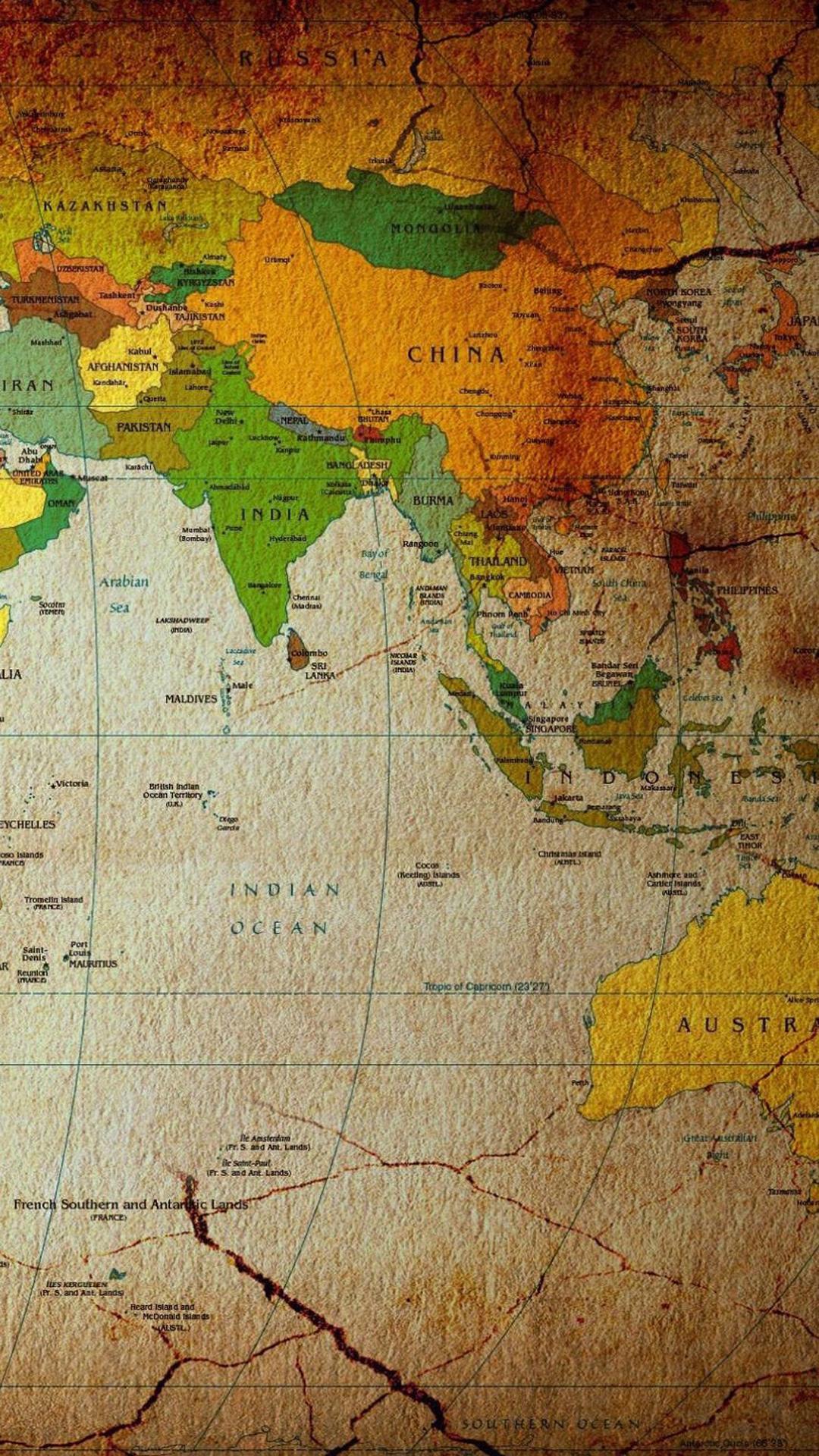 世界地图 创意 地球 图片 苹果手机高清壁纸 1080x