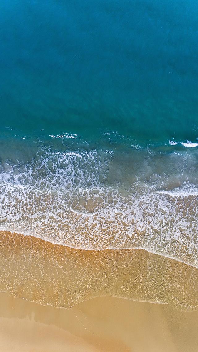 海 海浪 沙滩 海岸 苹果手机高清壁纸 640x1136