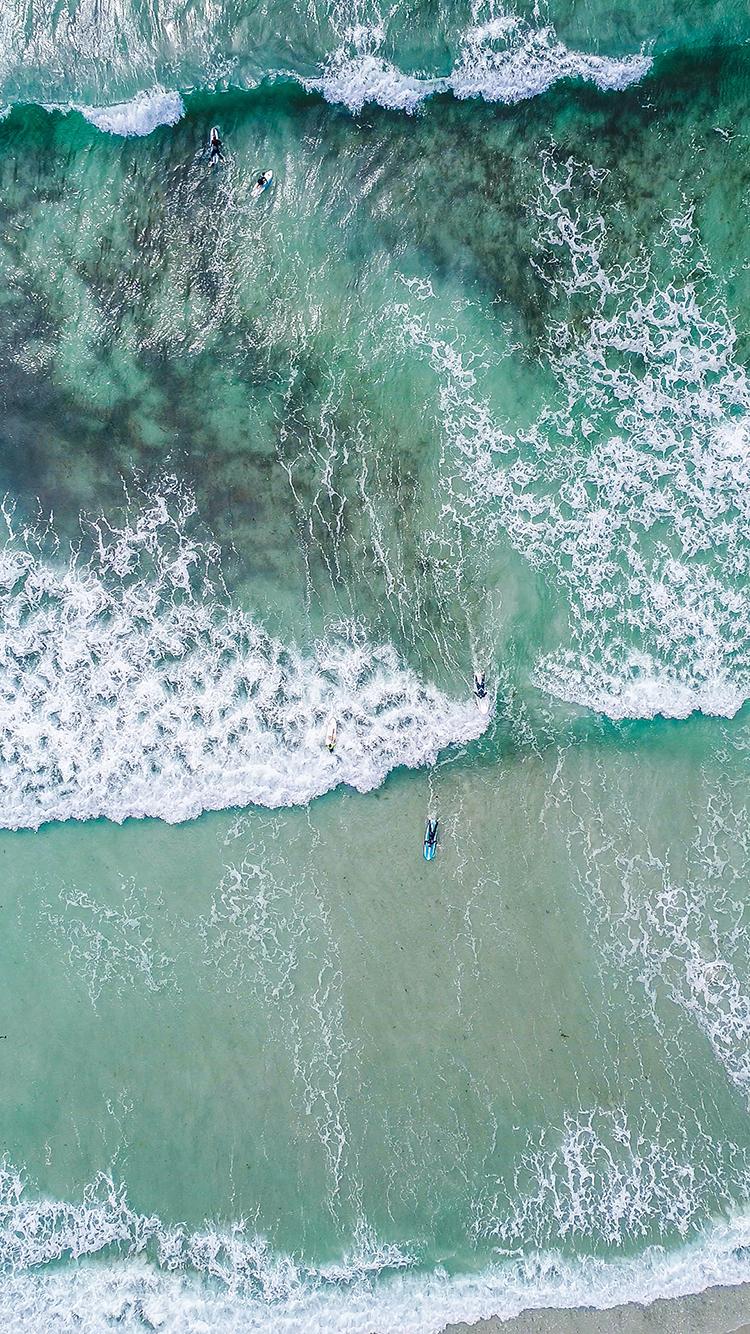 海浪 海水 大海 苹果手机高清壁纸 750x1334 - 足球
