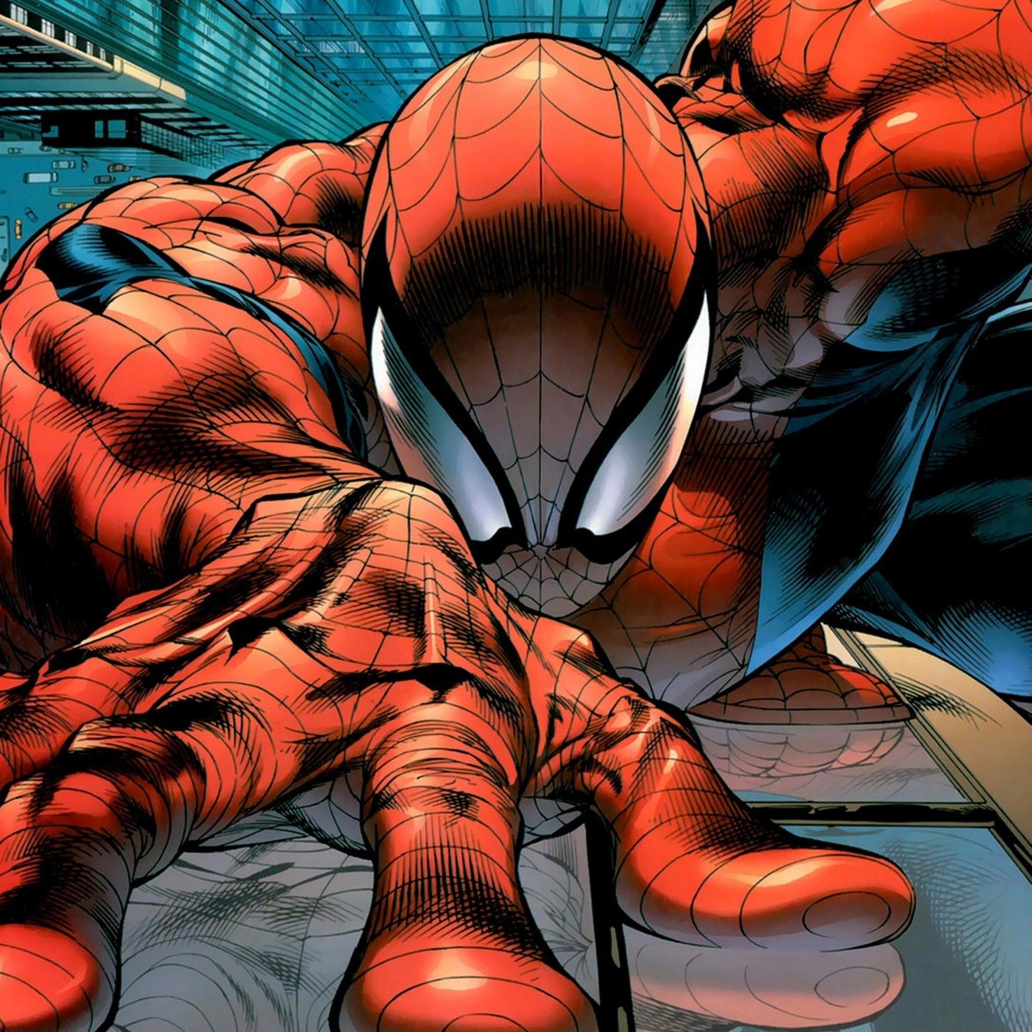 蜘蛛侠 动漫 卡通 漫威 苹果手机高清壁纸 2048x2048