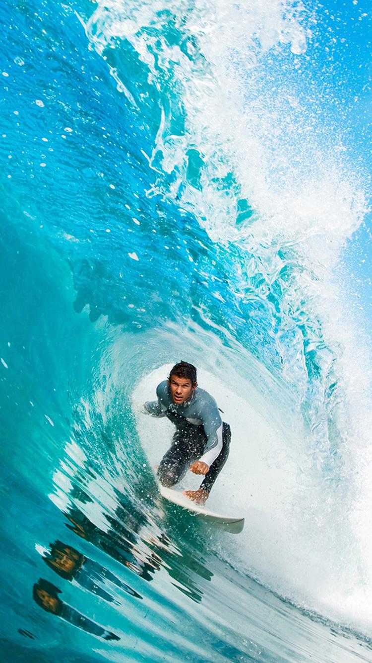 海浪 海水 冲浪 运动 苹果手机高清壁纸 750x1334