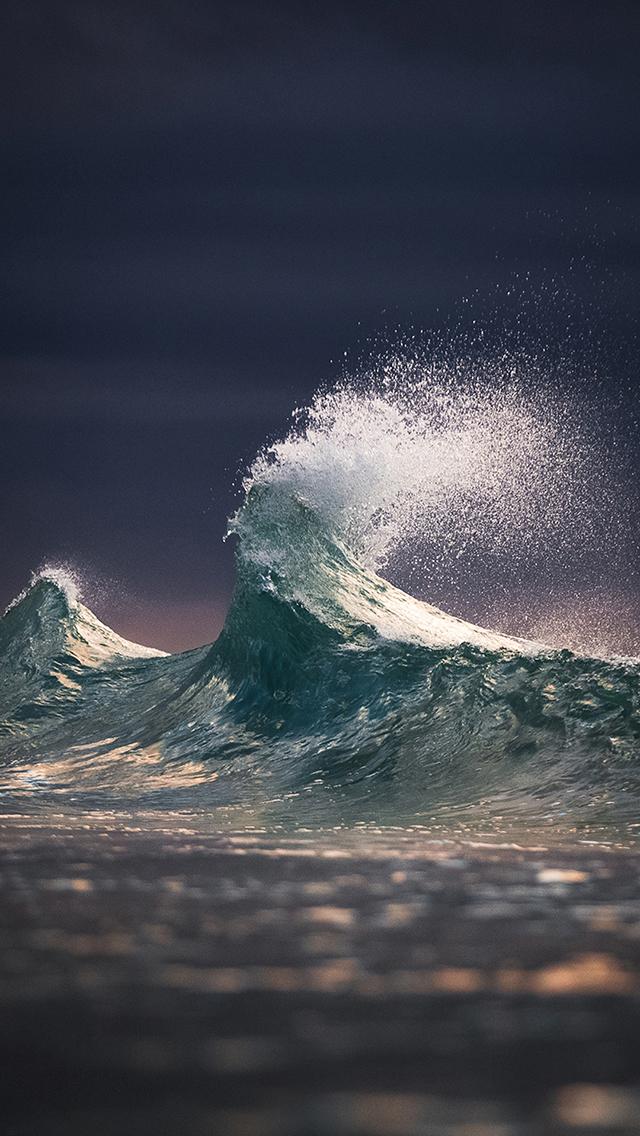 海水 海浪 波浪 大海 苹果手机高清壁纸 640x1136