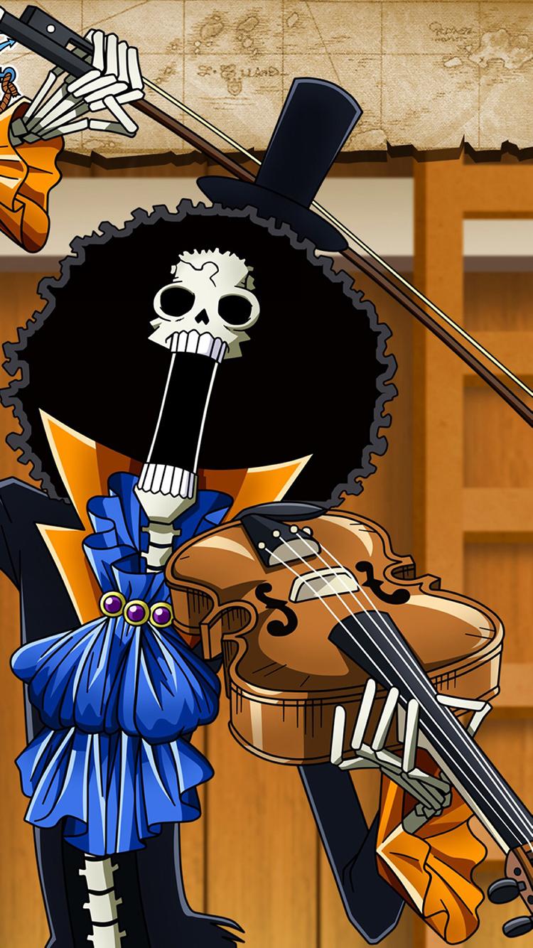 海贼王 布鲁克 草帽海贼团 乐器 小提琴 苹果手机高清