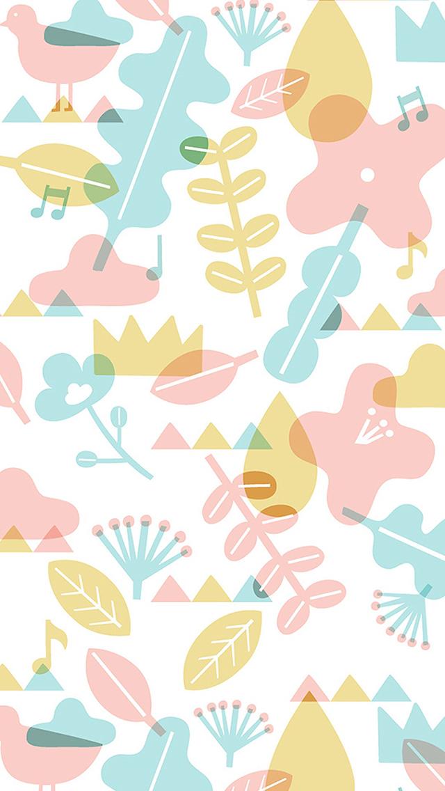 平铺 色彩 暖色 创意 苹果手机高清壁纸 640x1136