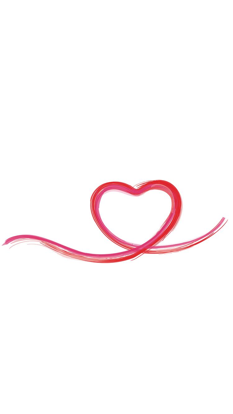 爱心 线条 爱情 心形 苹果手机高清壁纸 750x1334