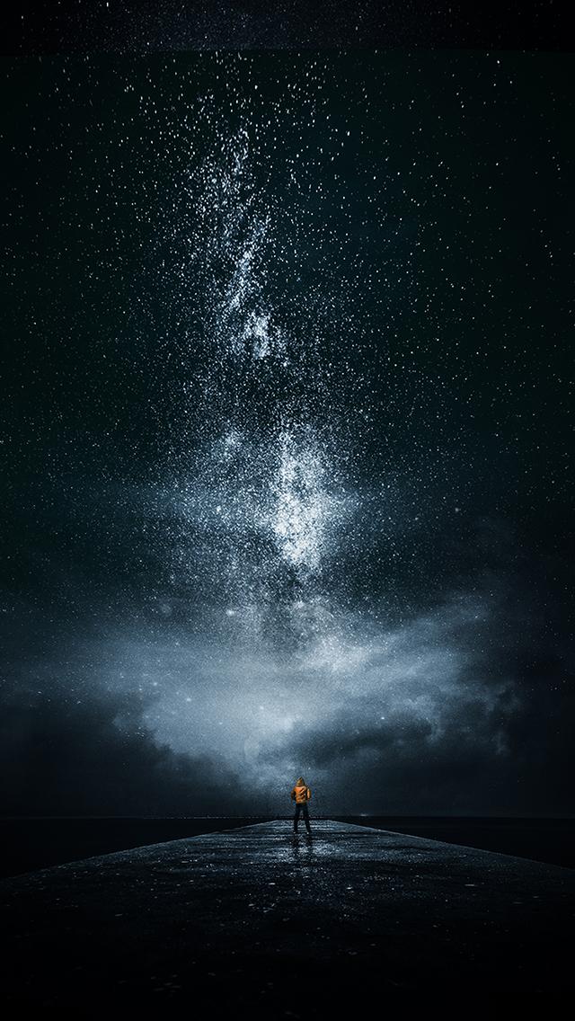 炫酷 星空 夜晚 星系 蘋果手機高清壁紙 640x1136