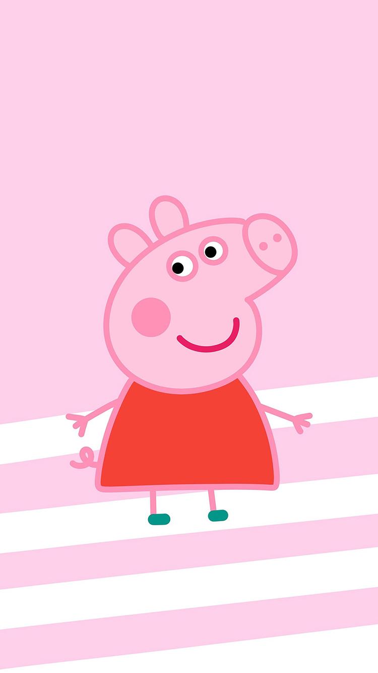 小猪佩奇 卡通 动画 可爱 粉色 苹果手机高清壁纸 750