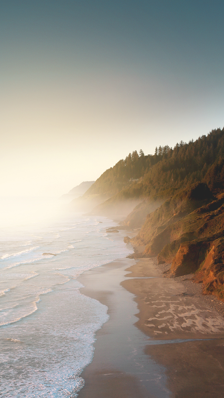 海边 海浪 烟雾 苹果手机高清壁纸 750x1334 - 足球