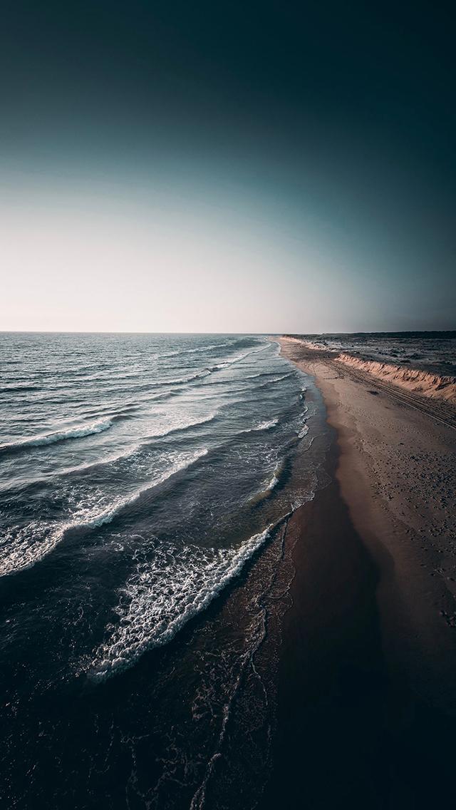 大海 海滩 沙滩 海浪 苹果手机高清壁纸 640x1136