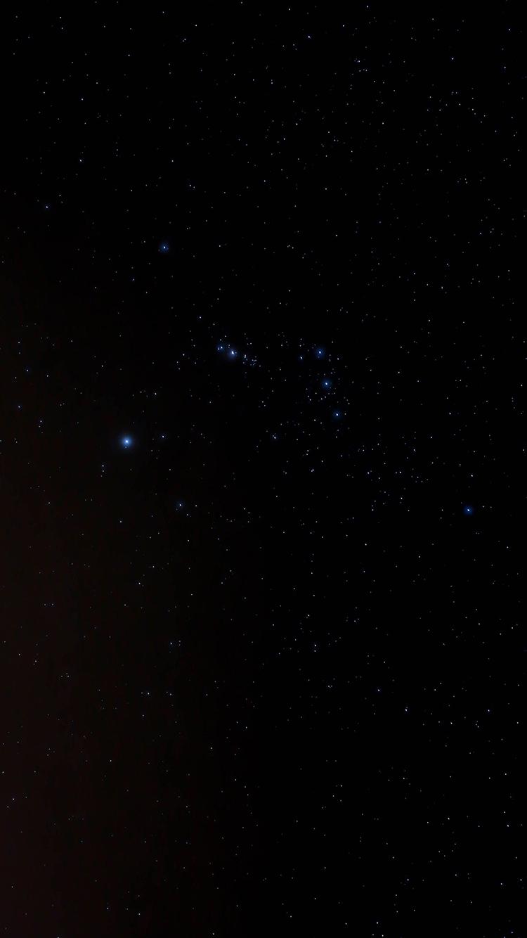 星空 黑暗 黑色 宇宙 太空 苹果手机高清壁纸 750x