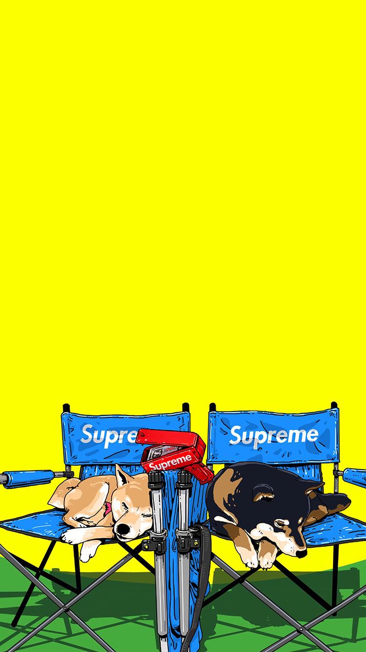 �ycj�`�_cjroblue插图 supreme 柴犬 潮图 苹果手机高清壁纸 x