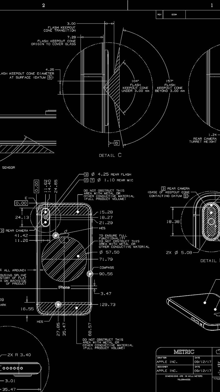 设计图 黑色 iphone 线稿 手机 苹果手机高清壁纸 750