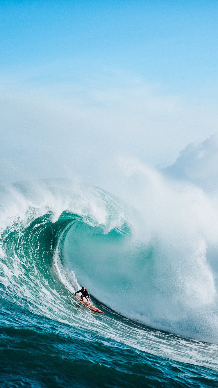 海浪 冲浪 大海 波浪 苹果手机高清壁纸 750x1334
