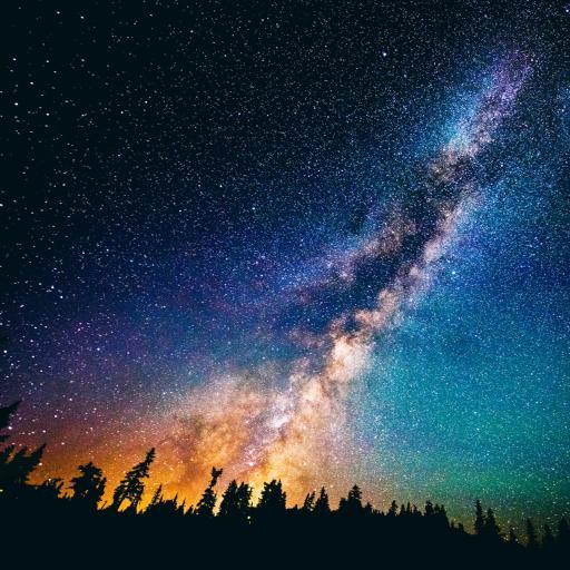 星星 星空 夜晚 光 唯美 蓝色