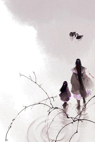 水墨画 其他 灰色 中国风