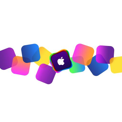 苹果 Apple logo 科技 白色