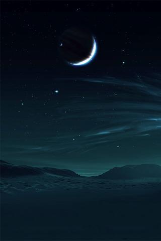 夜晚 月亮