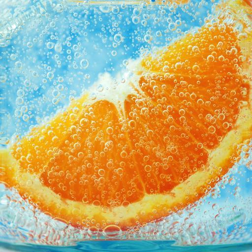清爽 夏天壁纸 橙子壁纸 汽水