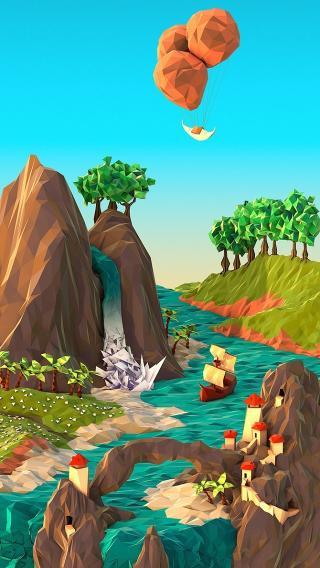 小清新 山水 动漫 手绘