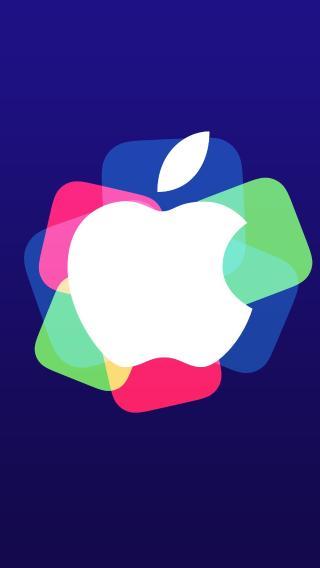 苹果logo 色彩 蓝色