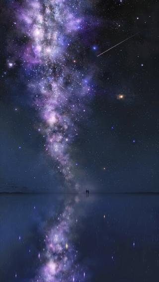 星空 夜空 梦幻 倒影