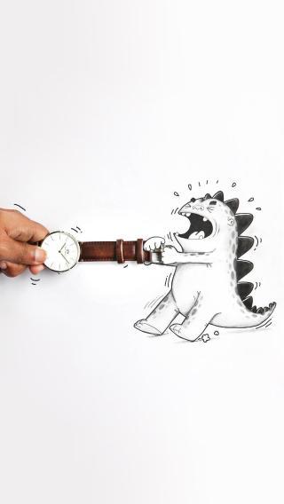 创意 动漫 小怪兽 手表
