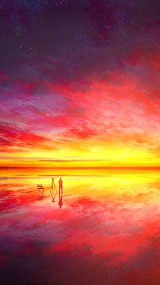 绝美夕阳 场景壁纸