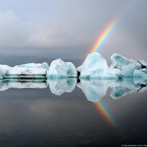 彩虹 冰山