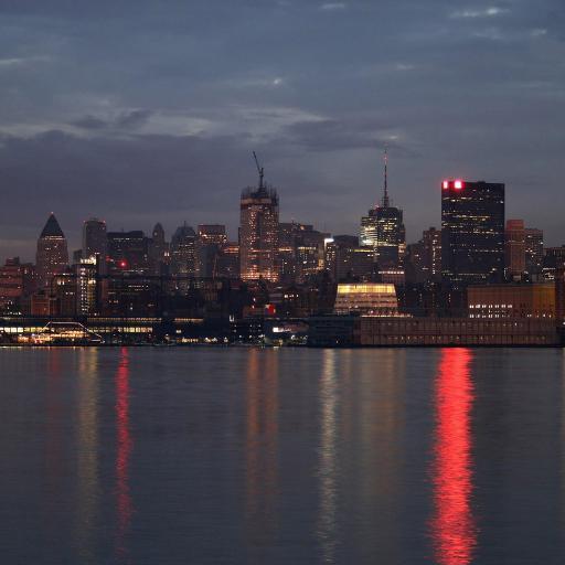 城市 夜景 江边