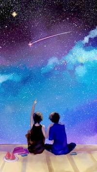 情侣 星空 爱情