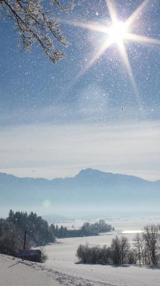 雪景 下雪