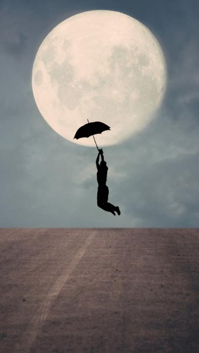 创意 男生 月亮