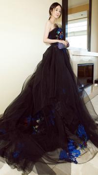 杨幂 黑色礼服 美丽